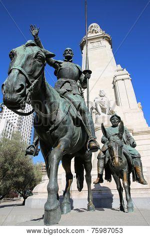 Cervantes Monument. Madrid