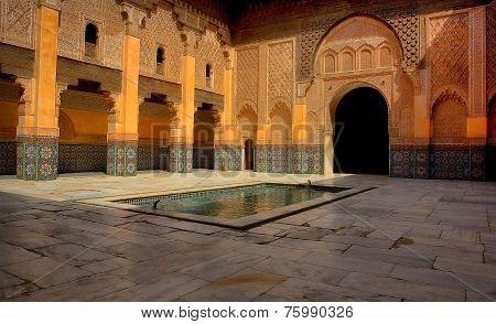 Historic Landmark Of Ben Youssef Madrasa