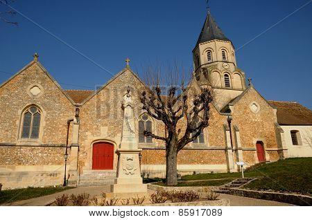 France, Church Of Saint Martin La Garenne In Les Yvelines