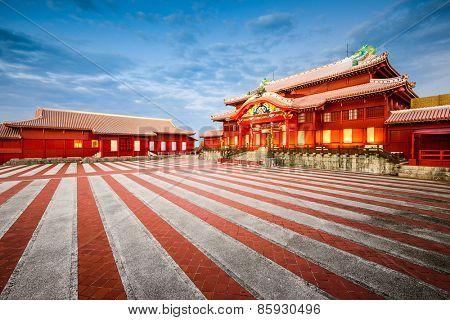 Naha, Okinawa, Japan at Shuri Castle.