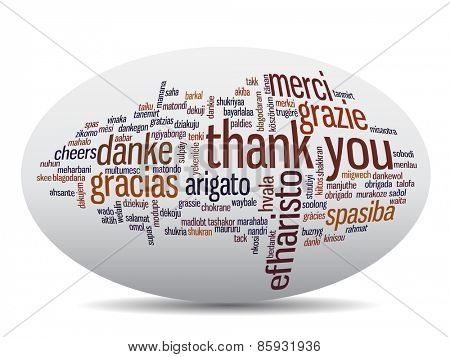 oncept or conceptual abstract thank you word cloud in different languages or multilingual for education or thanksgiving day