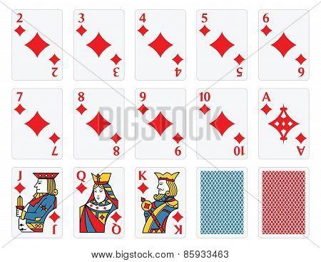 Playing Cards - Diamonds Set
