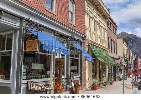 Telluride Main Street Shops In Colorado