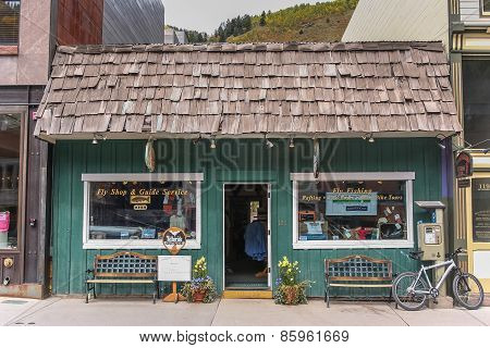 Little Fishing Shop On Telluride Main Street