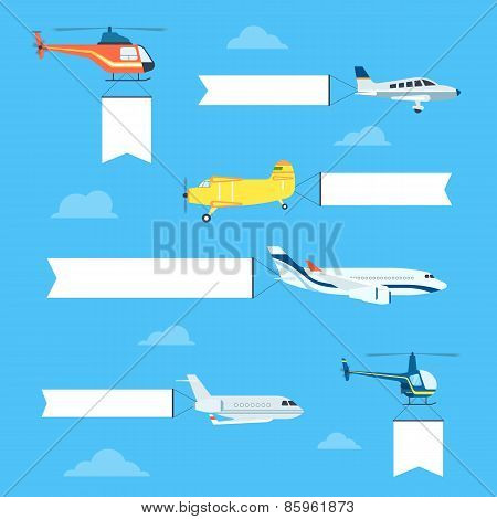 Flat airplanes set