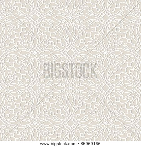 Lace vector seamless pattern, tiling.