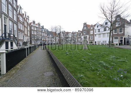 Begijnhof In Amsterdam Almshouse In Amsterdam