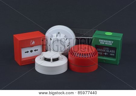 components and accessories for the fire alarm system poster