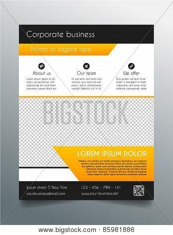 Business flyer template - fresh orange design