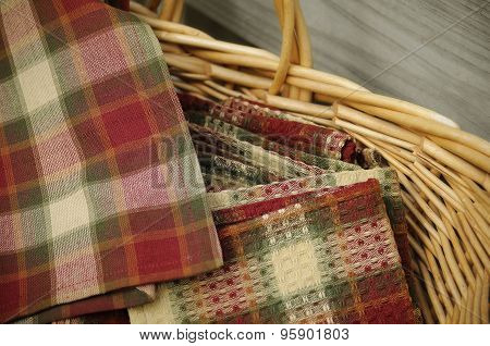 Autumn Basket of Napkins