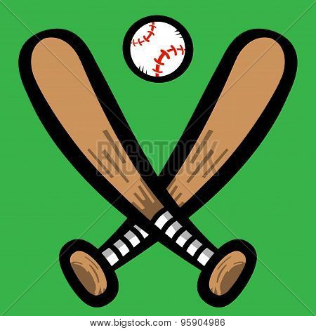 Cartoon Baseball Bats