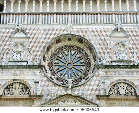The rose window of the Colleoni Chapel