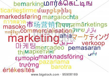 Background concept wordcloud multilanguage international many language illustration of marketing