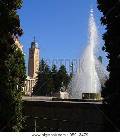 Fountain in University