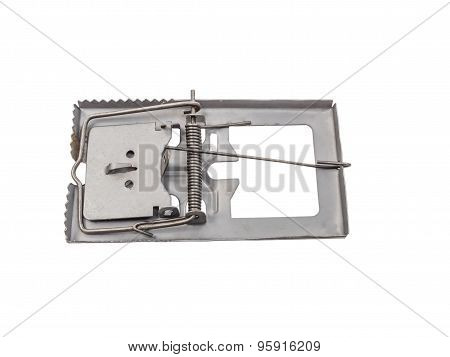Mouse Trap Isolated On A White Background With Clipping Path