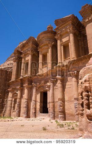 Ancient temple in Petra, Jordan