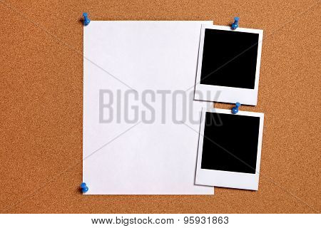 Blank Photos With Paper Poster