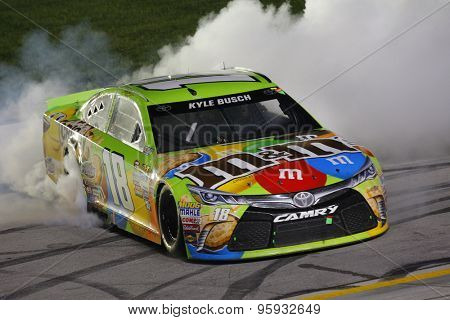 Sparta, KY - Jul 11, 2015:  Kyle Busch (18) wins the Quaker State 400 at Kentucky Speedway in Sparta, KY.
