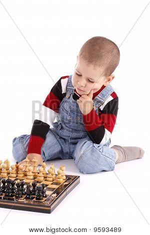 Childre Playing Chess