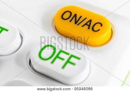 Closeup Of On Start Power Button