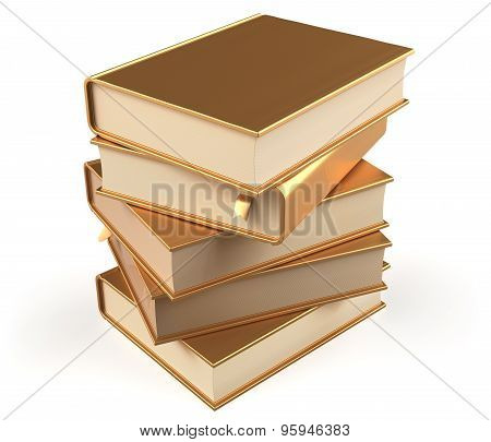 Book Gold Golden Stack Of Books Covers Blank Textbooks