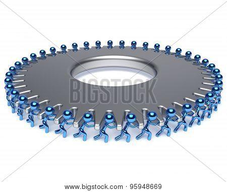 Teamwork Team Work Hard Job Partnership Business Process