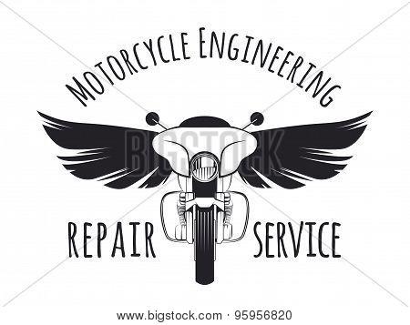 Vintage Touring Motorcycle Label