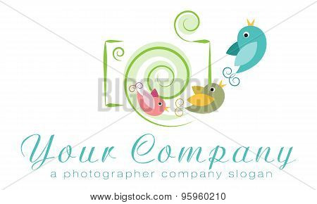 Vector logo template photo agency logo independent photographer logo family photographer logo poster