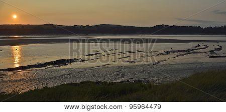 Sunset On River Severn