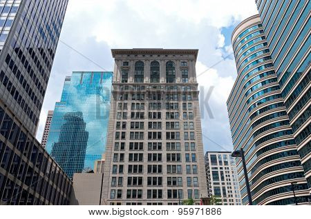 Historic Architecture And Glass Skyscrapers