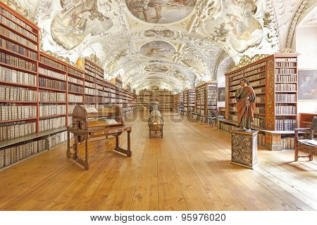 The Theological Hall in Strahov monastery in Prague