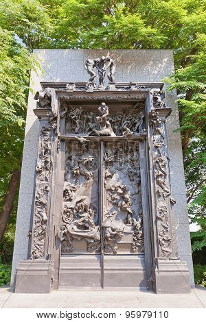 The Gates Of Hell Sculpture In Tokyo, Japan