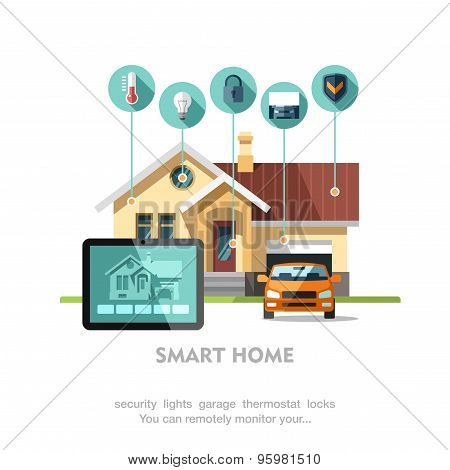 Smart home. Concept of smart house