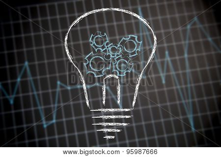 How Innovation Works: Lightbulb With Gearwheels