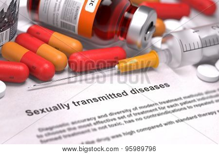 Sexually Transmitted Diseases- Medical Concept.