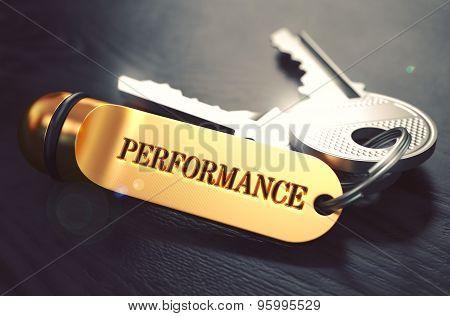 Performance Concept. Keys with Golden Keyring.