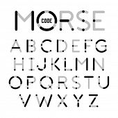 Visual guide learning Morse Code. Vector. poster