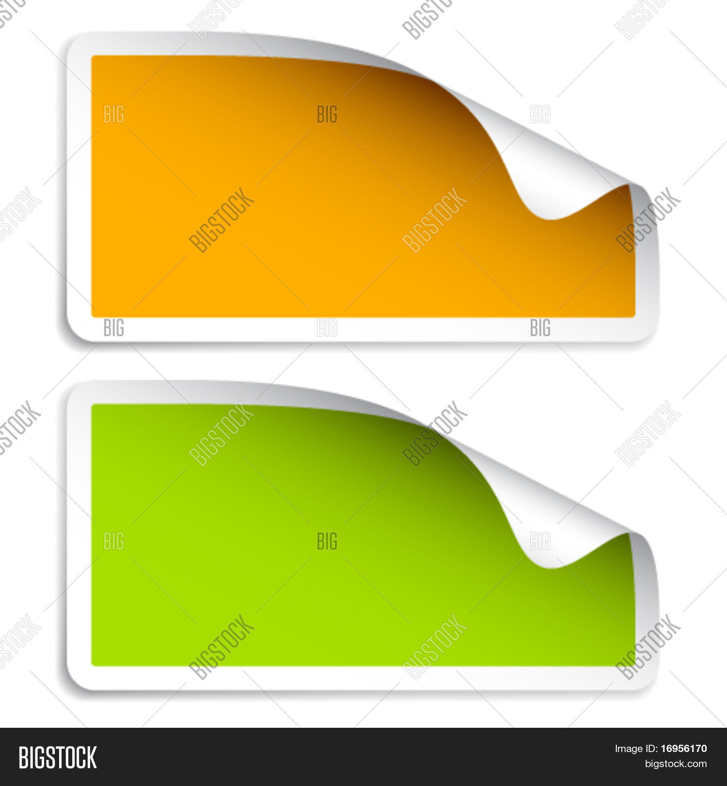 Vector Blank Stickers Vector & Photo (Free Trial)   Bigstock