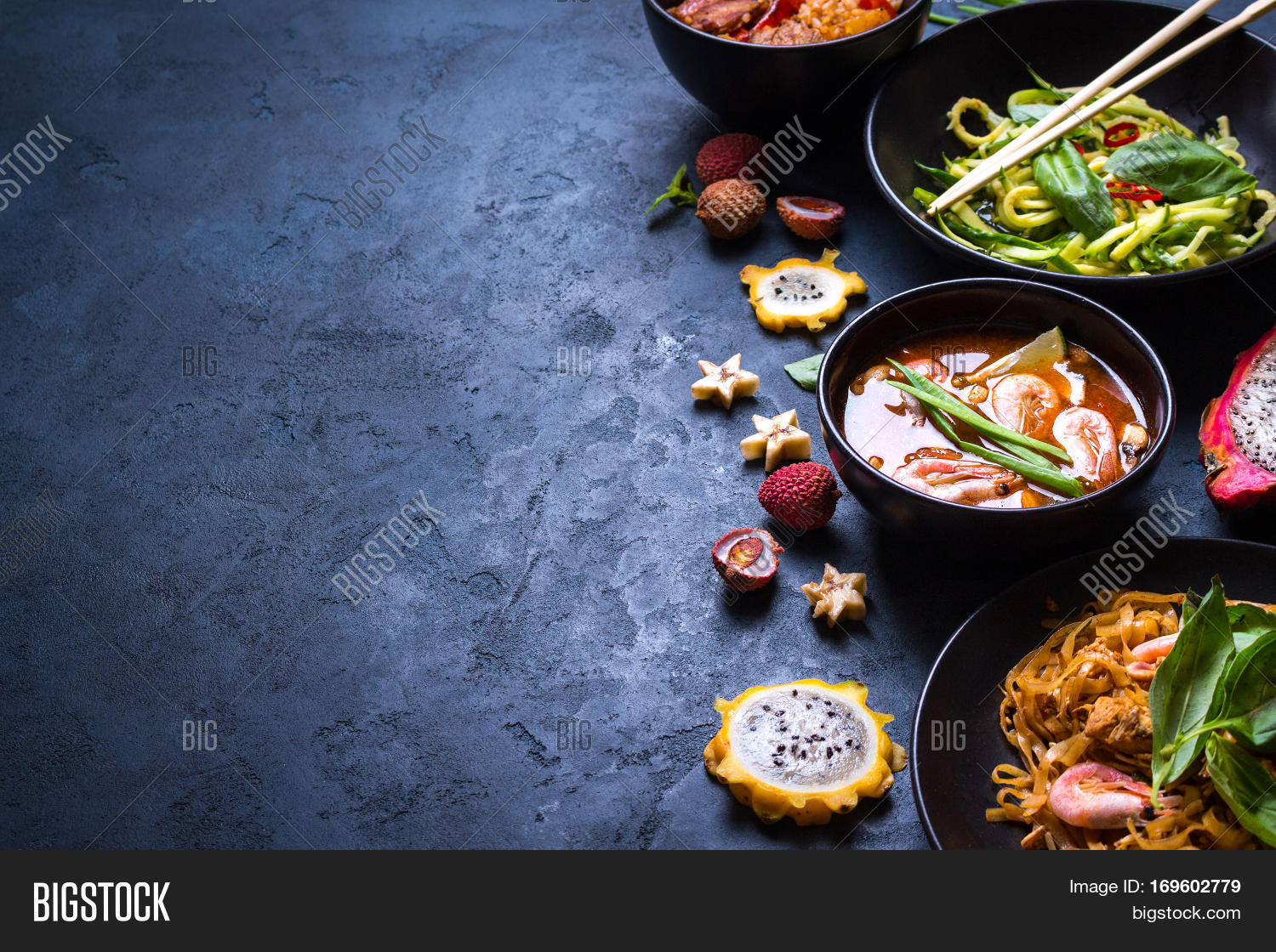 Thai Food Background Image Amp Photo Free Trial Bigstock