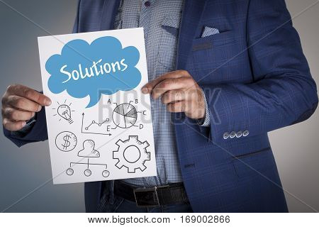 Technology, Internet, Business And Marketing. Business Analysis Concept.solutions