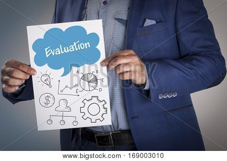 Technology, Internet, Business And Marketing. Business Analysis Concept.evaluation