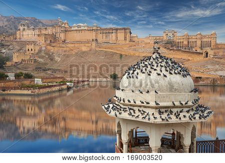 Amer Fort  Is Located In Amer, Rajasthan, India.
