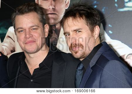 LOS ANGELES - JAN 9:  Matt Damon, Sam Rockwell at the