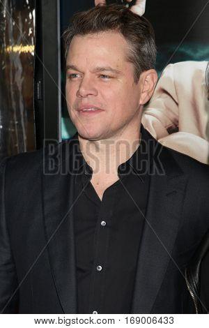 LOS ANGELES - JAN 9:  Matt Damon at the