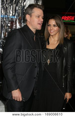 LOS ANGELES - JAN 9:  Matt Damon, Luciana Barroso at the
