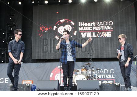 LAS VEGAS-SEP 20: (L-R) Toby McDonough, Riley McDonough and Connor McDonough of Before You Exit perform at the 2014 iHeartRadio Music Festival on September 20, 2014 in Las Vegas, Nevada.