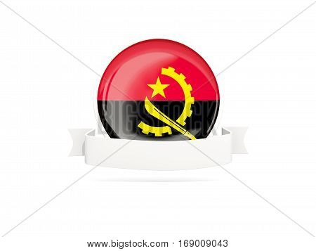 Flag Of Angola With Banner