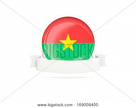 Flag Of Burkina Faso With Banner