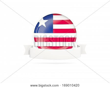 Flag Of Liberia With Banner