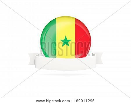 Flag Of Senegal With Banner